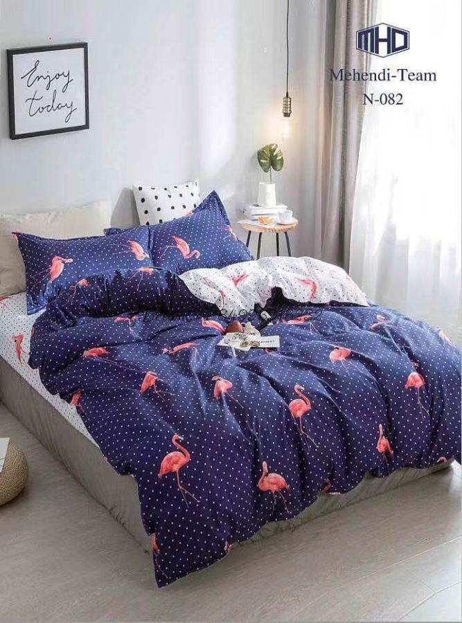 """Плотное Турецкое постельное бельё """"Mency"""" - """"Фламинго 4"""""""
