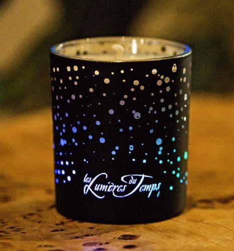 Свеча Lumiere с подсветкой 200 гр ЧЕРНАЯ АМБРА