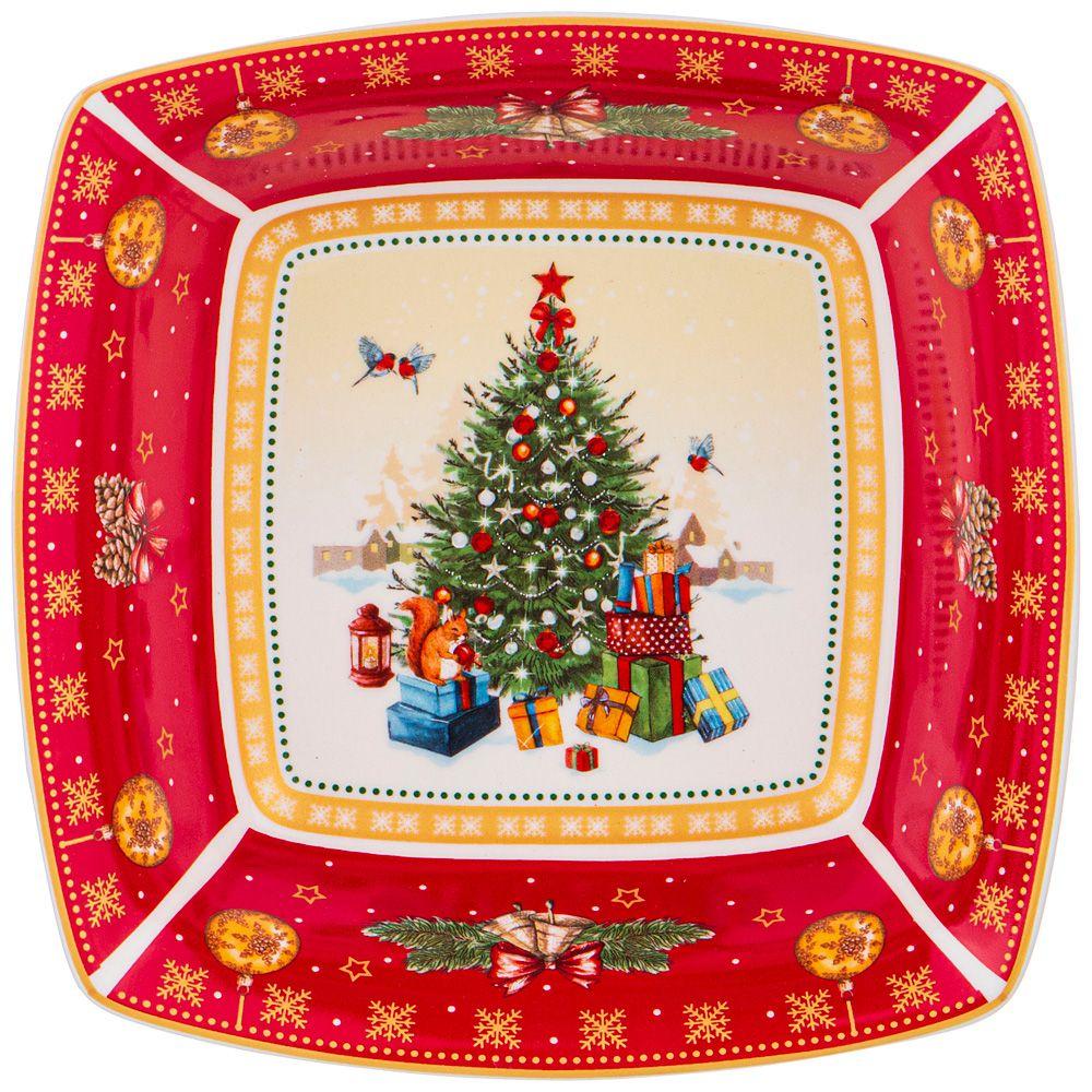 "САЛАТНИК ""CHRISTMAS COLLECTION"" 15,5Х15,5Х5 СМ."