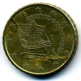 Кипр 10 евроцентов 2008