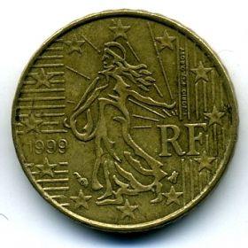 Франция 10 евроцентов 1999