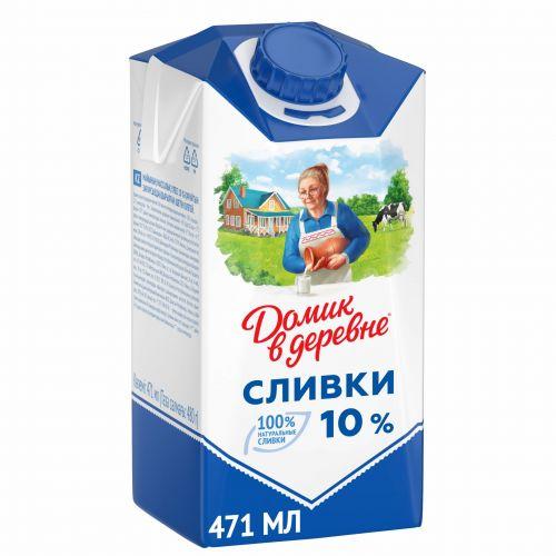 Сливки Домик в деревне 10% 480 гр