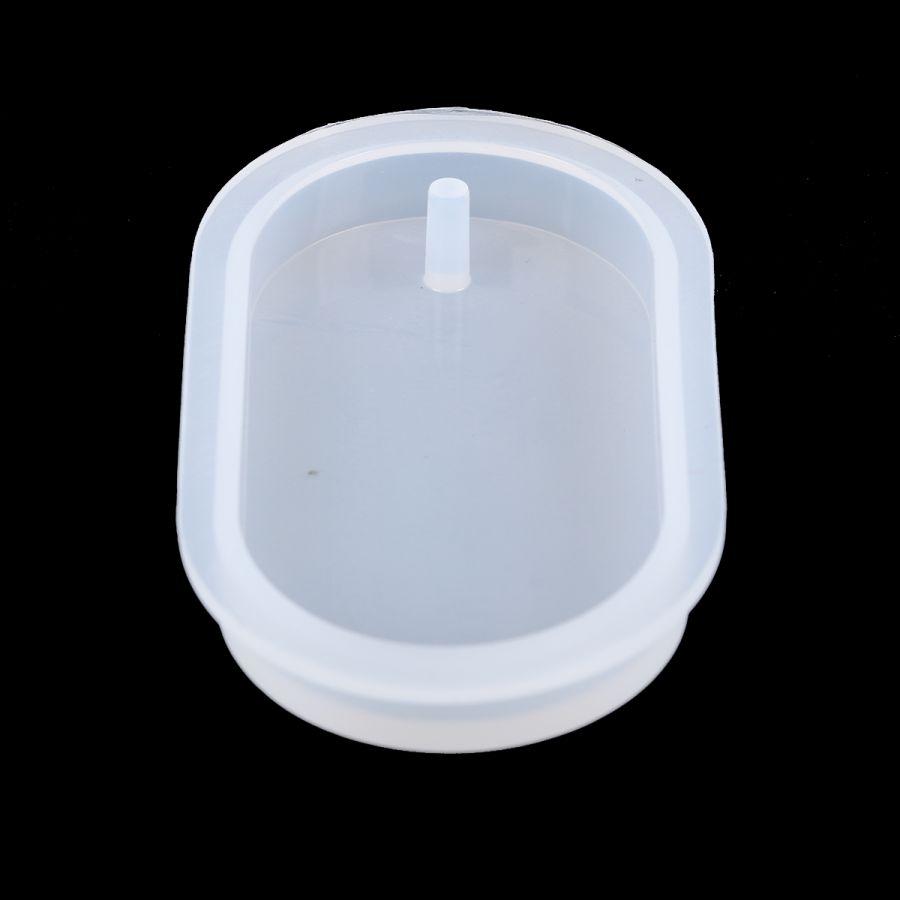 Молд силиконовый, Овал с подвесом, 8 см