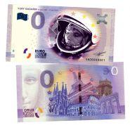 0 ЕВРО - Ю.А. Гагарин, 12 апреля 1961-2021(YURY GAGARIN 2). Памятная банкнота