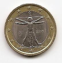 1 евро регулярная монета Италия 2005