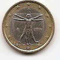 1 евро регулярная монета Италия 2006