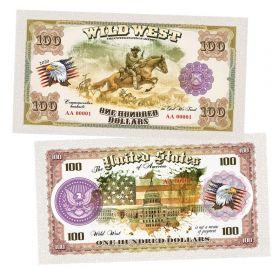100 долларов США - Ковбой (Cowboy). Памятная банкнота