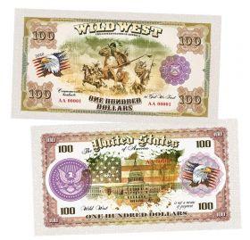 100 долларов США - Индейцы (Indians). Памятная банкнота