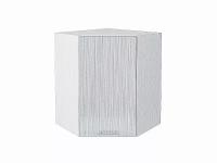 Шкаф верхний угловой Валерия ВУ590 (серый металлик дождь)