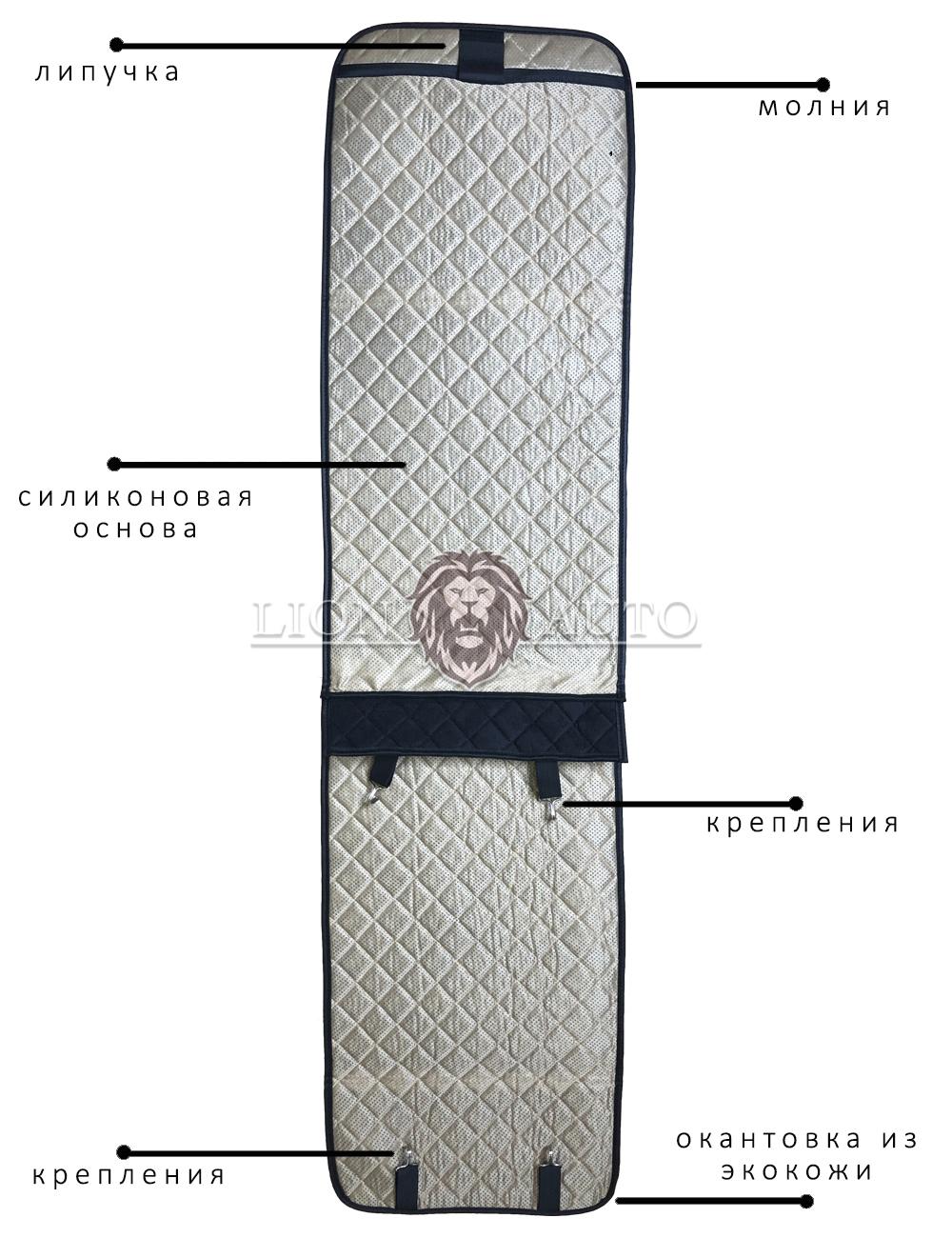 Накидки на сиденья из алькантары (черная строчка)