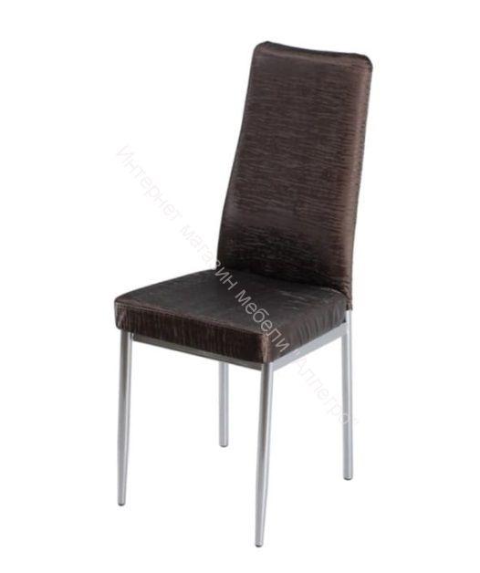 """Кухонный стул """"B-1"""" Бенгал кофе/Хром"""