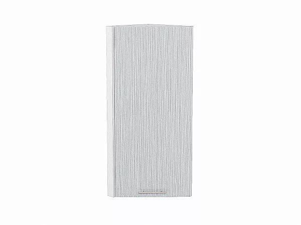 Шкаф верхний торцевой Валерия ВТ230Н (серый металлик дождь)