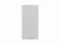 Шкаф верхний торцевой Валерия ВТ230Н в цвете серый металлик дождь