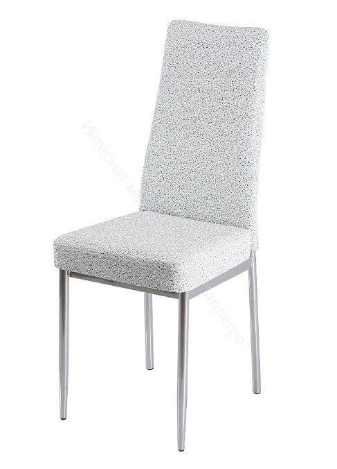"""Кухонный стул """"B-1"""" Узор белый/черный/Хром"""