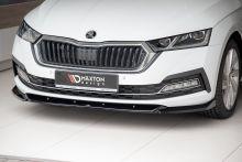 Сплиттер передний, Maxton Design, с ребрами