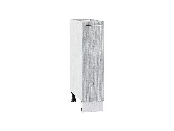 Шкаф нижний бутылочница Валерия НБ200 (серый металлик дождь)