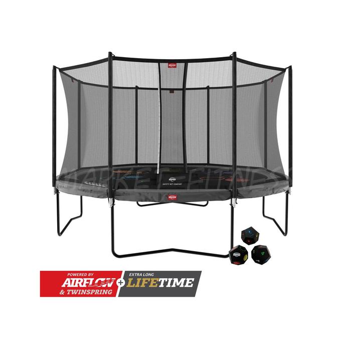 Батут BERG Champion Regular 430 Grey Levels + Safety Net