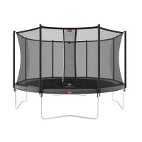 Батут BERG Favorit Grey 380 + защитная сетка Safety Net Comfort