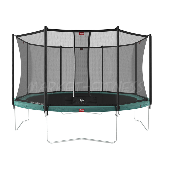 Батут BERG Favorit Green 380 + защитная сетка Safety Net Comfort