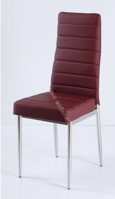 "Кухонный стул ""B-1"" Бордовый/Хром"