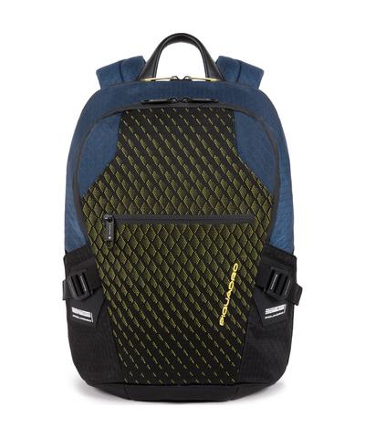 Рюкзак мужской с двумя отделениями Piquadro CA5151PQY/BLG сине-желтый