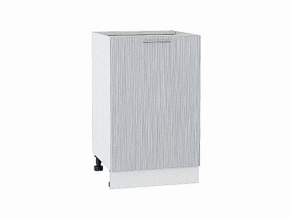 Шкаф нижний Валерия Н500 (серый металлик дождь)