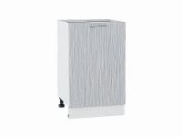 Шкаф нижний с 1-ой дверцей Валерия Н500 в цвете серый металлик дождь