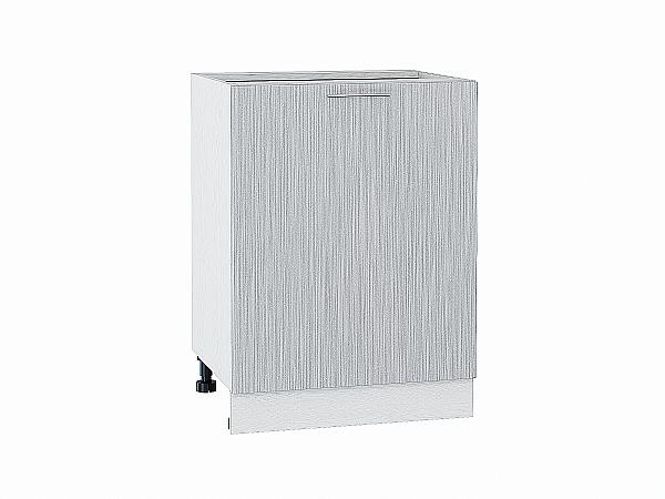 Шкаф нижний Валерия Н600-Ф46 (серый металлик дождь)