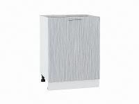 Шкаф нижний с 1-ой дверцей Валерия Н600-Ф46 в цвете серый металлик дождь