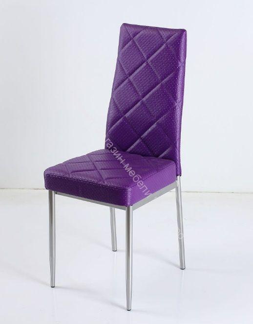 """Кухонный стул """"B-1"""" Капитон фиолетовый/Хром"""