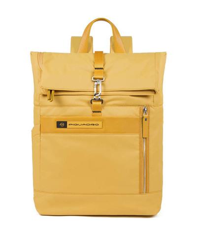 Рюкзак ролл топ Piquadro CA4451BIO/G нейлон/кожа желтый