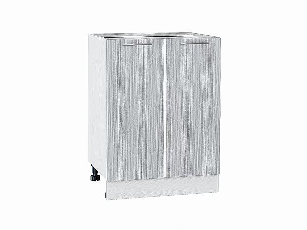 Шкаф нижний Валерия Н600 (серый металлик дождь)