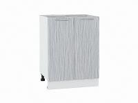 Шкаф нижний с 2-мя дверцами Валерия Н600 в цвете серый металлик дождь