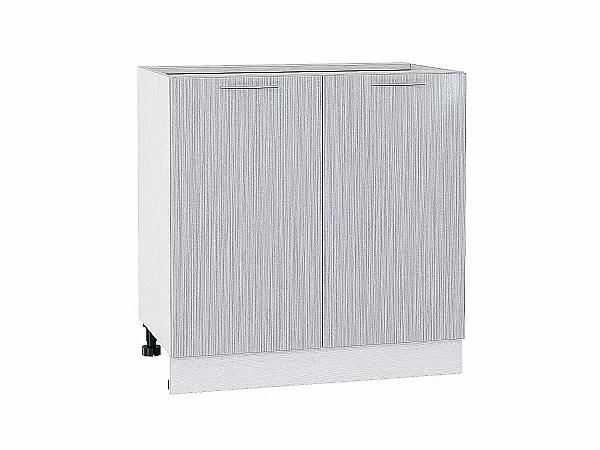Шкаф нижний Валерия Н800 (серый металлик дождь)