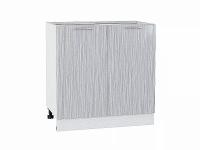 Шкаф нижний с 2-мя дверцами Валерия Н800 в цвете серый металлик дождь