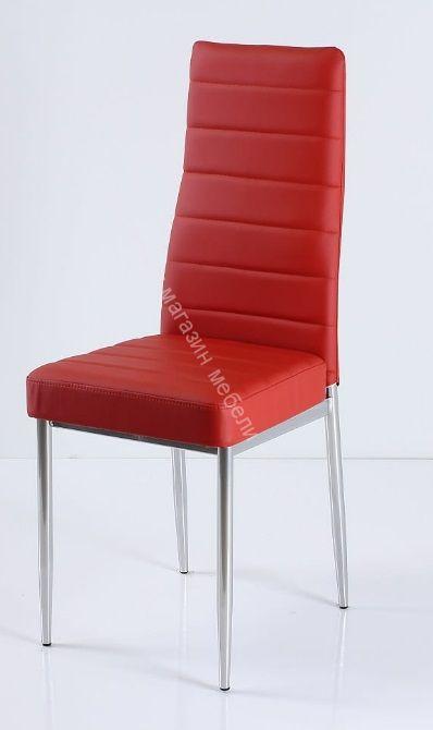 """Кухонный стул """"B-1"""" Красный 3021/Хром"""