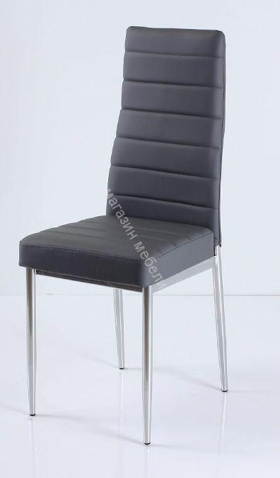 "Кухонный стул ""B-1"" Тёмно-серый 3022/Хром"