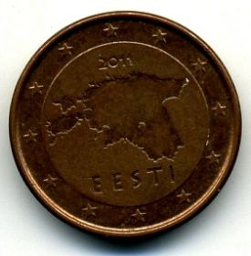 Эстония 1 евроцент 2011