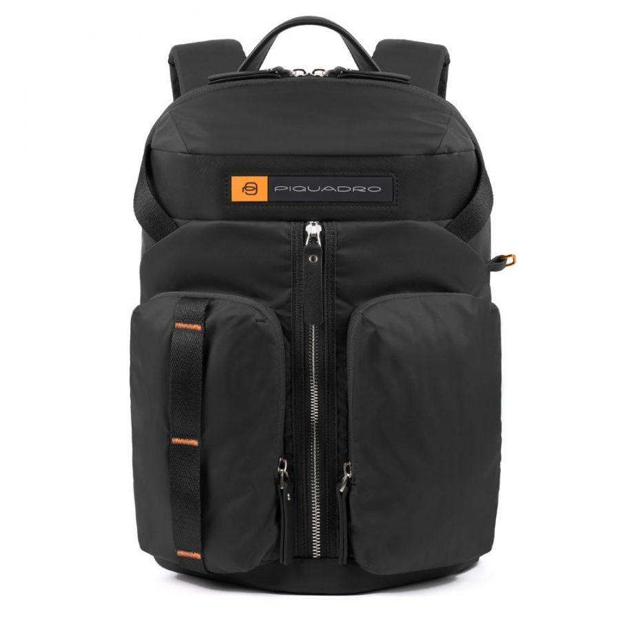 Рюкзак городской Piquadro CA5038BIO/N нейлон/кожа черный