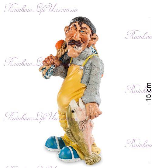 "Фигурка рыбак с рыбой ""Warren Stratford"""