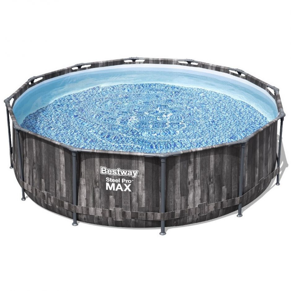Каркасный бассейн Bestway Wood Style 5614Z (427х107 см) с кар. фильтром, тентом и лестницей