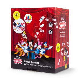 """Набор фокусов для детей Дисней развивающий набор """"Фокусы с Микки Маус"""", 125 фокусов"""