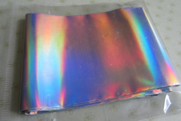 Фольга переводная. Цвет: серебро спектр голография Freedecor