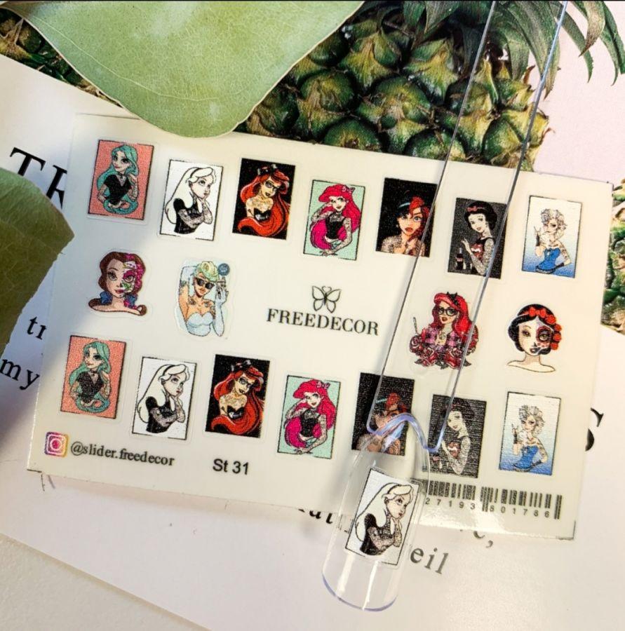 FREEDECOR 2D стикеры на самоклейке Арт. St-31