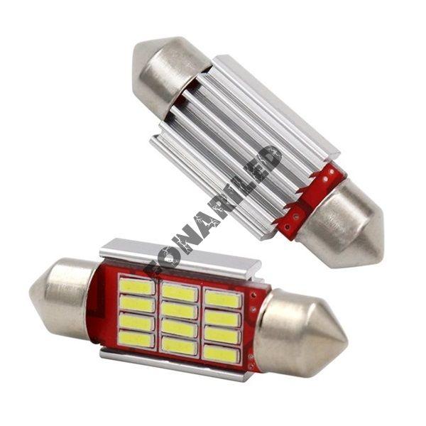 Светодиодная лампа освещения салона 12 SMD 36мм