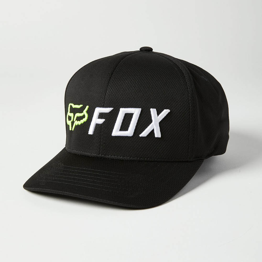 Fox Apex Flexfit Black/Yellow бейсболка
