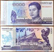 Камбоджа - 1000 Риэлей 2016 UNC