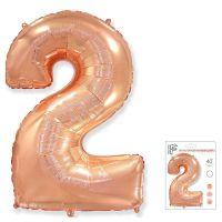 ЦИФРА 2 Розовое золото -102cm