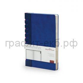Ежедневник А5 недат.BrunoVisconti BERGAMO синий с индексами 272 стр. 3-545/03
