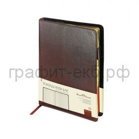 Ежедневник А5 полудат.BrunoVisconti PROFY коричневый 416 стр. 3-073/03